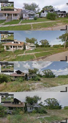 Detroit's Decay Revealed Through Google Street View