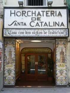 Horchatería de Santa Catalina, Valencia, Spain | The famous Horchatería de Santa Catalina, which (according to the inscription outside) is over 200 yrs old. It can be found just off the Plaza de la Reina (Queen's Square), at the opposite end to the Cathedral | Photo Credit: Damian Corrigan