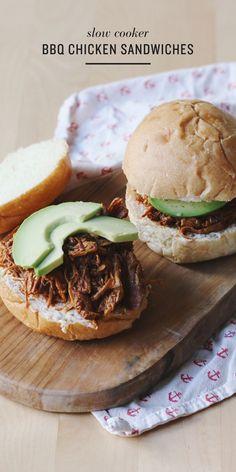 Super tasty, Slow Cooker BBQ Chicken Sandwiches!