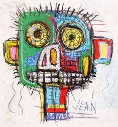 """""""immafuster: """"Jean-Michel Basquiat """" where did you get that photo of me from ? Jean Michel Basquiat, Jm Basquiat, Sgraffito, Pop Art Andy Warhol, Modern Art, Contemporary Art, Neo Expressionism, Robert Mapplethorpe, Life Paint"""