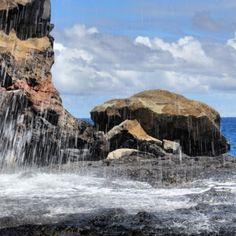 Saltwater shower! #UncontainedLife #BlowHole #VisitMaui http://ift.tt/1u3QV6z