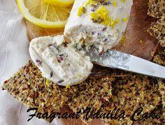 Fragrant Vanilla Cake: Raw Lavender Lemon Chevre