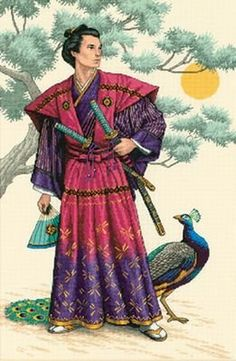 Dimensions D03881 The Mighty Samurai Picture Counted Cross Stitch Kit 30 x 46cm: Amazon.co.uk: Kitchen & Home