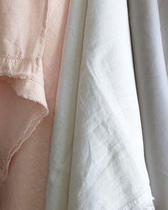Lustables: Eileen Fisher Linen Sheets.  VanessaLarson.com