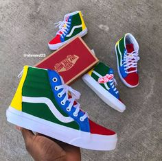 Image of Crayola Vans Custom Vans Shoes, Custom Painted Shoes, Vans High, Sk8 Hi Vans, Vanz, Vans Off The Wall, Dream Shoes, Me Too Shoes, Shoes Sneakers