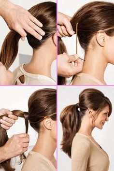 Ponytail with tease .