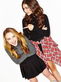 Sabrina Carpenter and Rowan Blanchard  | ~follow me: Pinterest @gmeetsworld ~ |