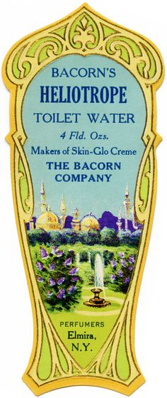 Bacorn's Toilet Water Perfume Label ~ Free Vintage Image