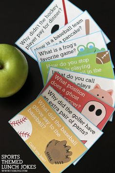 Sports themed lunch joke printable - add a little funny to your kids lunches!