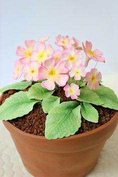"""Kiara`s cakes: Tarta decorada """"Maceta con flores"""""""
