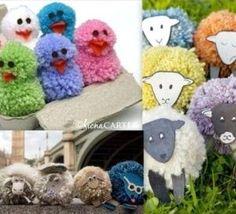 poup e en laine pour les enfants bricolage avec les enfants pinterest laine jouets et. Black Bedroom Furniture Sets. Home Design Ideas