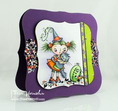 The Pampered Stamper: Stampendous Release Week...Not a Scaredy-Cat, Are You? Darling Halloween greeting by Pam Hornschu