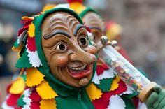 Freiburg, Germany - February 15 : Mask parade at the historical carnival on February 15, 2010 in Freiburg, Germany Stock Photo - 8984830