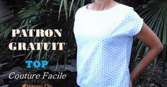 DIY FASHION : coudre et créer ses vêtements, TUTO d'un modèle de haut femme super facile à coudre, Patron PDF gratuit à imprimer, explications précises pour le réaliser soi-même