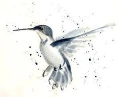 Watercolor hummingbird for a tattoo in a different color. Would go great with the blue hibiscus flower I pinned earlier. Watercolor Hummingbird, Watercolor Bird, Watercolor Tattoo, Hummingbird Tattoo Black, Hummingbird Sketch, Leg Tattoos, Flower Tattoos, Color Tattoos, Tattos