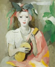 Marie Laurencin - Painting of a Young Girl with Guitar