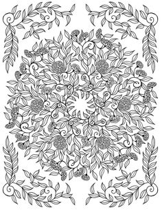 """mon jardin intérieur"" Coloring book agenda 2015 on Behance Pattern Coloring Pages, Printable Adult Coloring Pages, Mandala Coloring Pages, Coloring Book Pages, Coloring Sheets, Coloring Pages For Grown Ups, Planner, Free Coloring, Colorful Flowers"