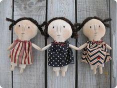 Little primitive dolls - free pattern