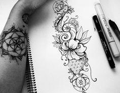 Geometric nature ~ Tattoo design