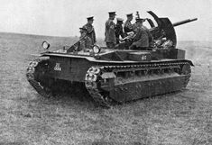 British Tanks of the Inter-war Decades - 1925 - Mark II Birch Gun in action during British Army manoeuvres, anywhere between July 1926 when they were issued, and June-July 1931, when they were withdrawn. Markings on the front hull plate indicate it is being manned by 20 Battery, 9th Field Brigade, Royal Artillery.