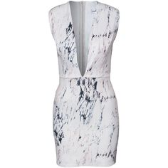 Rare London Marble Bodycon Dress (665 DKK) ❤ liked on Polyvore featuring dresses, multi, party dresses, womens-fashion, zipper dress, bodycon cocktail dress, zip dress, bodycon dress i body conscious dress