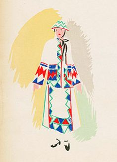 Fashion Illustration by Sonia Delaunay (1885-1979), 1923-24, Plates from portfolio.