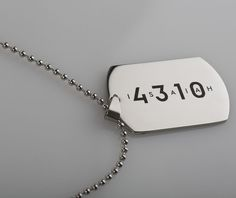 Stunning Personalised Stainless Steel Tag Necklace Stunning & masculine! Add an ice cool touch to your style with this handsome Tag. The pendant is a thick stainless steel that will never tarnish or change colour. The tag comes complete & is ideal for guys to wear all day every day.