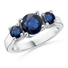 Make a statement with this Classic Prong Set Sapphire Three Stone Ring from Angara.com. Explore a fascinating array of designs