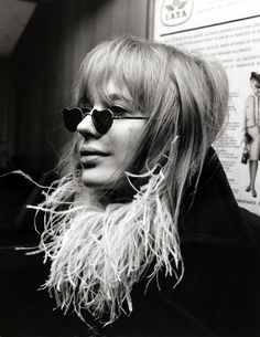 heart sunglasses- marianne faithfull