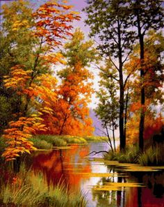 Ideas Painting Nature Landscape Fall For 2019 Watercolor Landscape, Landscape Art, Landscape Paintings, Landscape Photography, Nature Photography, Beautiful Paintings Of Nature, Beautiful Nature Wallpaper, Beautiful Landscapes, Pictures To Paint
