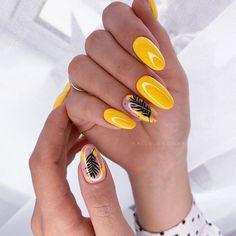 Minimalist Nails, Polygel Nails, Hair And Nails, Yellow Nail Art, Grey Nail Designs, Manicure E Pedicure, Super Nails, Stylish Nails, Accent Nails