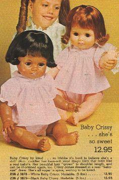 Fisher Price Toys, Vintage Fisher Price, Vintage Dolls, Vintage Ads, Vintage Items, My Childhood Memories, Childhood Toys, Crissy Doll, Old Advertisements