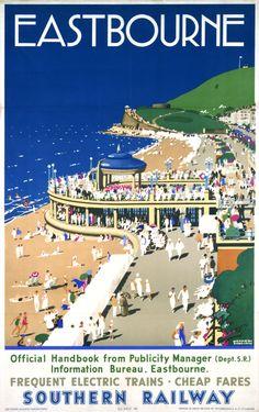 vintage seaside advertising posters eastbourne - Google Search