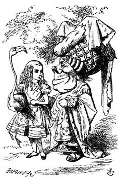 John Tenniel.  Illustrations to the very first edition of Alice in Wonderland and Alice Through the Looking Glass