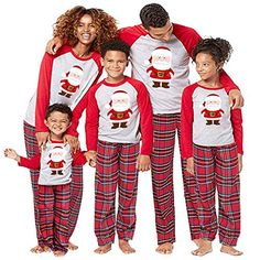 Chic WensLTD Family Christmas Pyjamas Long Sleeve Pajamas Sets Santa Claus  Tops Pants Nightwear Sleepwear Set c06f5707c