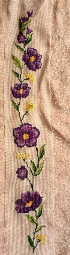 Embroidery Patterns Free, Embroidery Needles, Crewel Embroidery, Cross Stitch Embroidery, Cross Stitch Charts, Cross Stitch Patterns, Little Stitch, Ribbon Work, Cross Stitch Flowers