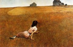 Andrew Wyeth....Christina's World - this was the only piece of art we had in our living room for years. now i kind of miss it...