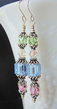 Earrings - Crystal Beads Dangles