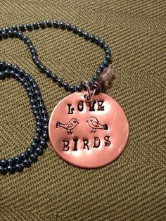 'Love Birds Necklace' is going up for auction at 12pm Fri, Sep 28 with a starting bid of $10.
