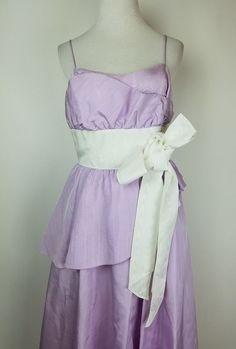 20a63371ae3 VTG Gunne Sax Jessica McClintock Purple Prom Dress Full Skirt Strappy Size  11