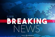 Design for a Breaking News post or publication. It says Breaking News Live over a world map. You can edit the text. Best Password Manager, Good Passwords, Channel Logo, Broadcast News, Newscaster, News Bulletin, Live Breaking News, Online Archive, Facebook Users