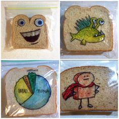 These #sandwich bags are simultaneously hilarious and appetizing. Yum! #lunch #kids #funny