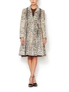 Leather Zebra Print Jacket from Dare-to-Wear Designer Looks on Gilt