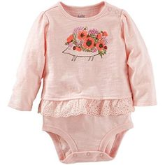 Free Shipping. Buy OshKosh B'gosh Baby Girls' Single Bodysuit, Pink, 12 Months at Walmart.com