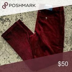 NWT Vineyard Vines Slim Fit Breaker Pant. 35x32 New with tags corduroy Breaker pants. Slim fit. Crimson color Vineyard Vines Pants Corduroy