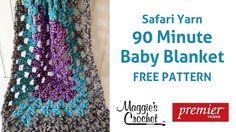 90 Minute Baby Blanket Free Crochet Pattern - Right Handed