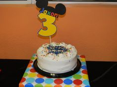 Mickey Mouse Cake Topper by YourPartyShoppe on Etsy, $12.00