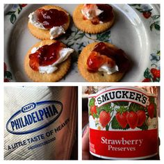 Ritz crackers cream cheese and jelly