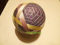 "Темари Лекция 63. Как сделать Темари ""корзина узор"".  _  Temari Lecture 63. How to make a Temari ""basket pattern""."