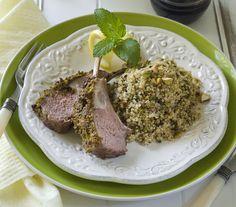 Pistachio Garlic Mint Quinoa Pilaf | http://food-management.com/appetizer-soups-sides/pistachio-garlic-mint-quinoa-pilaf